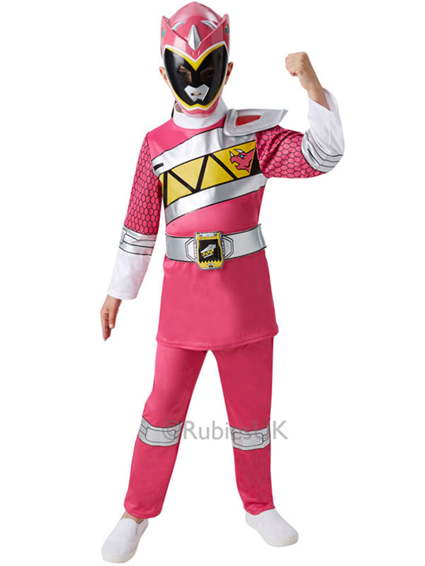 Child Dino Charge Pink Power Ranger Deluxe Costume
