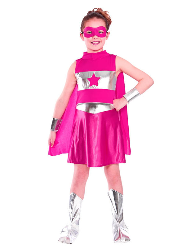 Child Pink Super Hero Costume