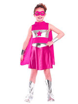 Child Pink Super Hero Costume