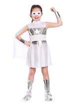 Child White Super Hero Costume