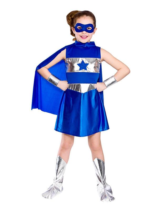 Child Blue Super Hero Costume
