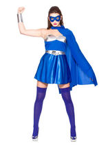 Blue Silver Hot Super Hero Costume