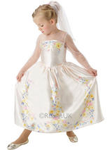 Child Cinderella Wedding Dress Costume