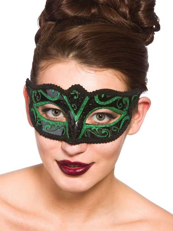 Verona Eyemask Green Glitter
