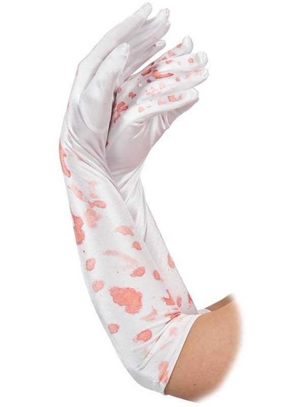 Long Blood Spattered Gloves