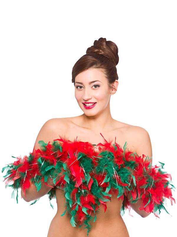 Christmas Feather Boa