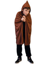 Child Hooded Cape Brown