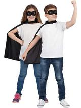 Child Super Hero Cape & Eyemask Black