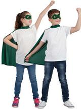 Child Super Hero Cape & Eyemask Green