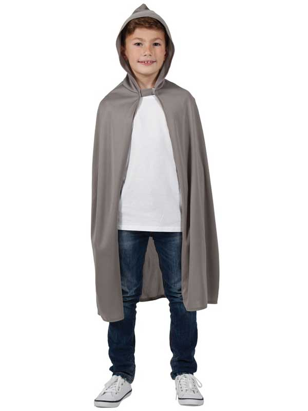 Child Hooded Cape Grey