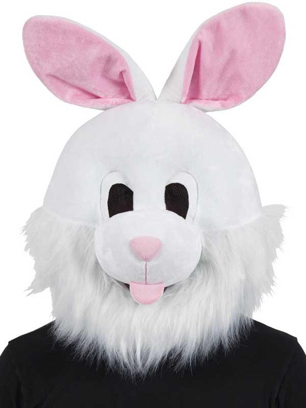 27c98c962f33b Dettagli su Easter Bunny Coniglio BIANCO PELUCHE MASCOTTE HEAD MASK  PRENOTARE SETTIMANA ABITO PARTY NUOVO- mostra il titolo originale