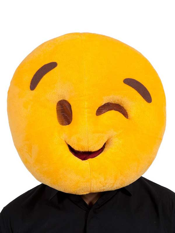 Adult Fabric Overhead Emoticon Wink Face