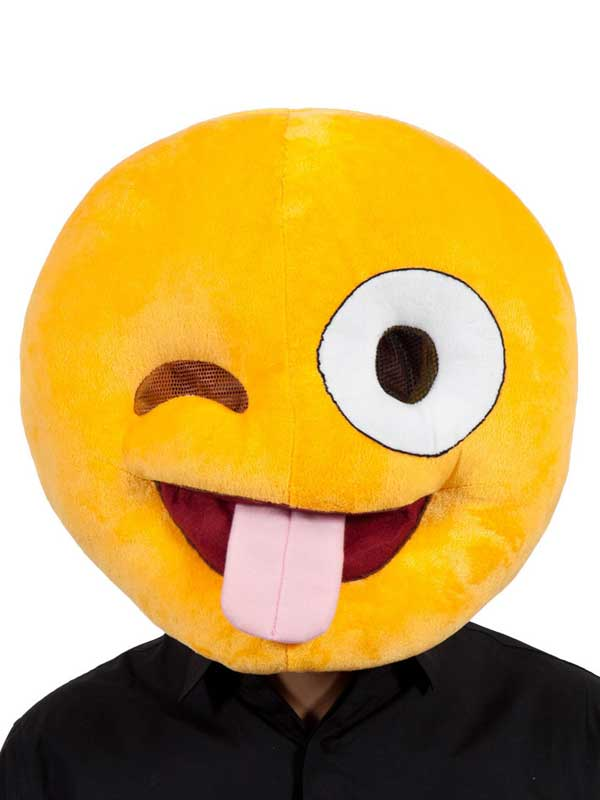 Adult Fabric Overhead Emoticon Crazy Face
