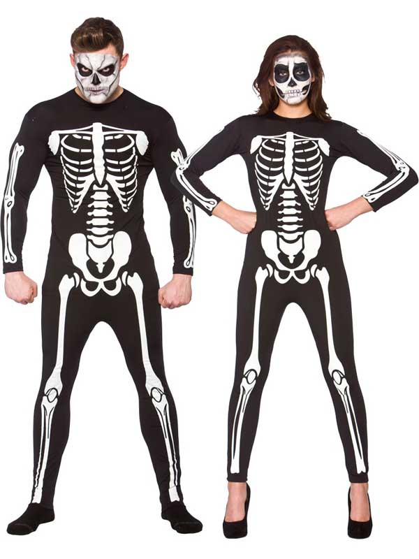 Unisex Skeleton Jumpsuit Costume