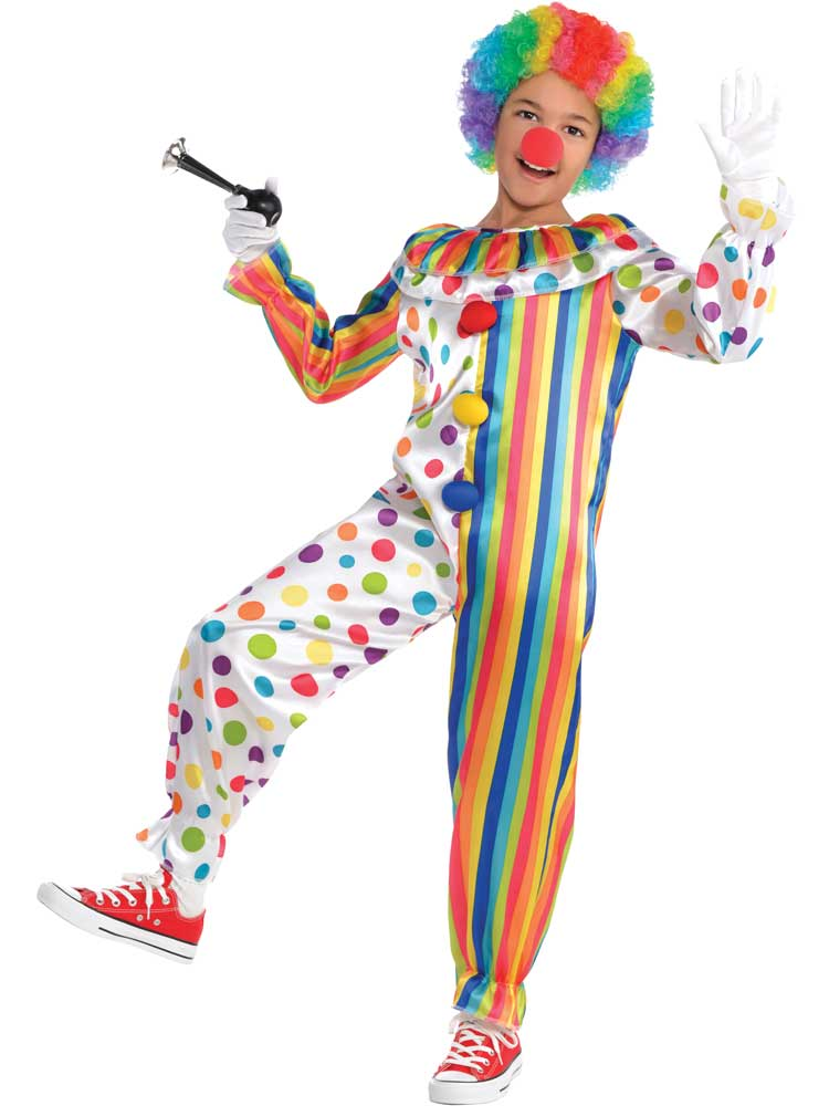 Clowning Around Circus Clown Hooped Dress Classic Womens Fancy Dress Costume