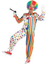 Boys Clown Jumpsuit Costume
