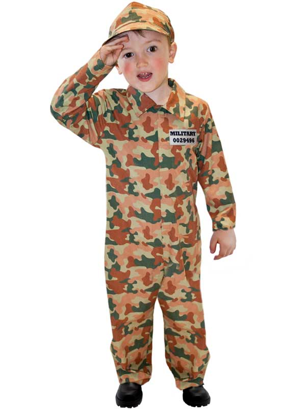 Child Camo Army Costume