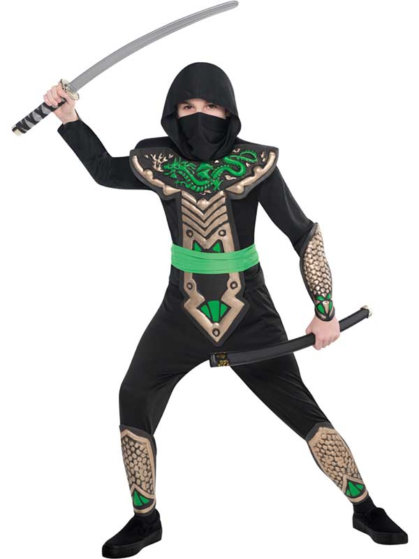 Child Boys Dragon Slayer Ninja Costume