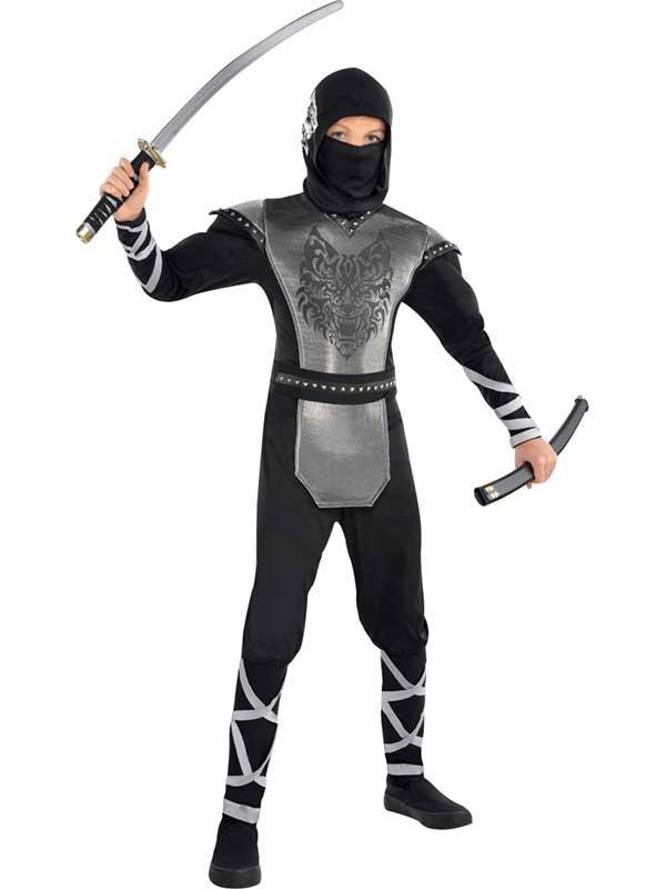 Child Boys Howling Wolf Ninja Costume
