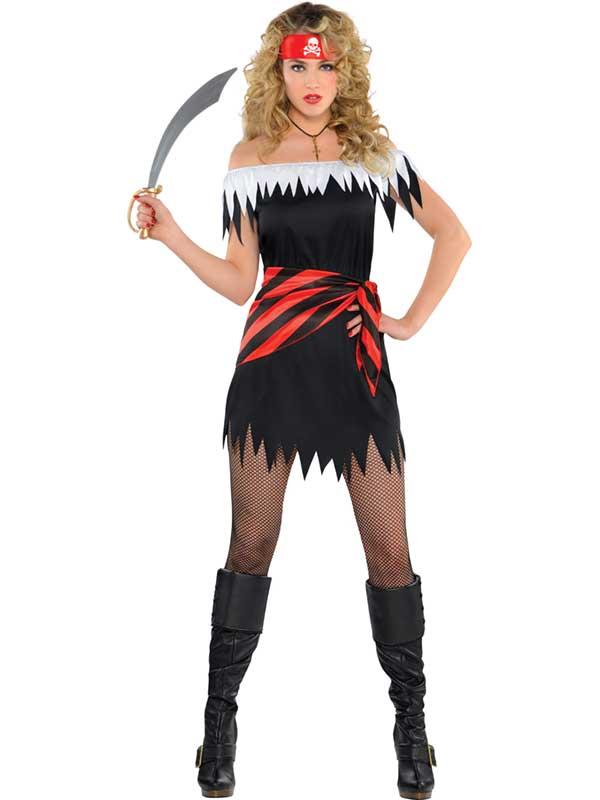 Ladies-Ahoy-Katie-Caribbean-Pirate-Wench-Buccaneer-Fancy-Dress-Costume-STD-XL