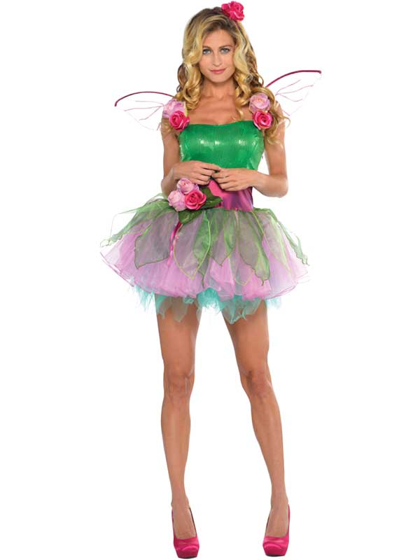 Sentinel Woodland Fairy Costume Adult Fancy Dress UK 8-16 Ladies Nymph Tinkerbell Outfit  sc 1 st  eBay & Woodland Fairy Costume Adult Fancy Dress UK 8-16 Ladies Nymph ...