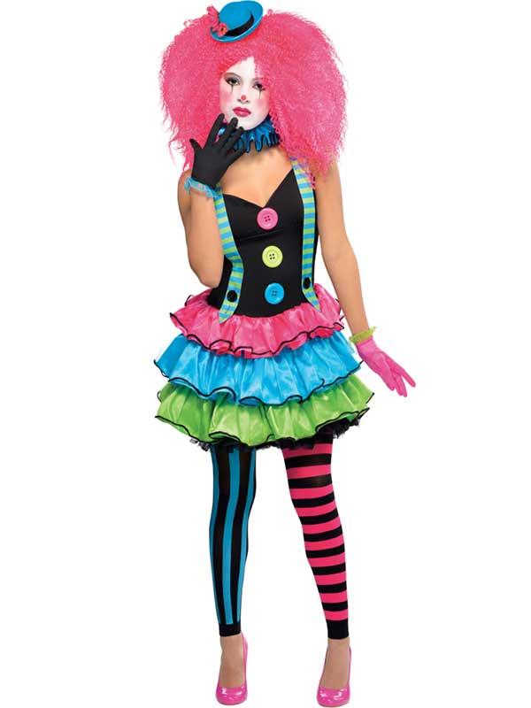 Child Girls Kool Klown Costume