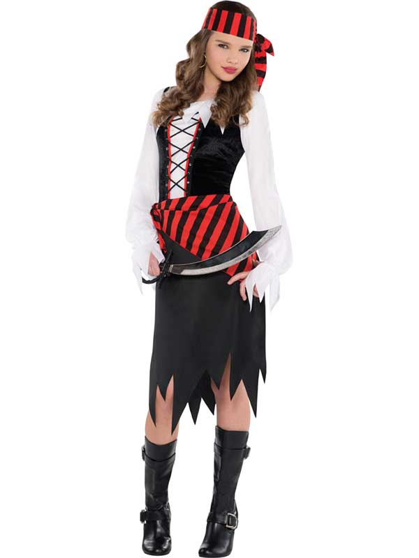 Child Girls Buccaneer Beauty Costume