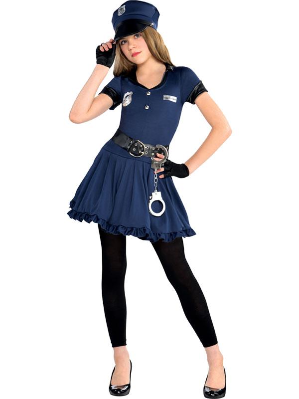 Child Girls Cop Cutie Costume