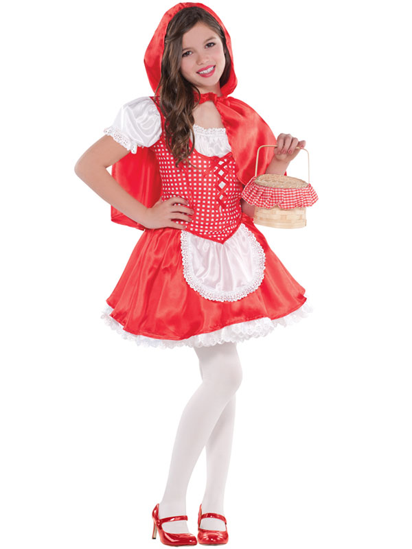 Child-Lil-Little-Red-Riding-Hood-Costume-Girls-Halloween-Fancy-Dress-Book-Week