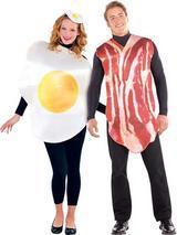 Breakfast Buddies Bacon & Egg Costumes