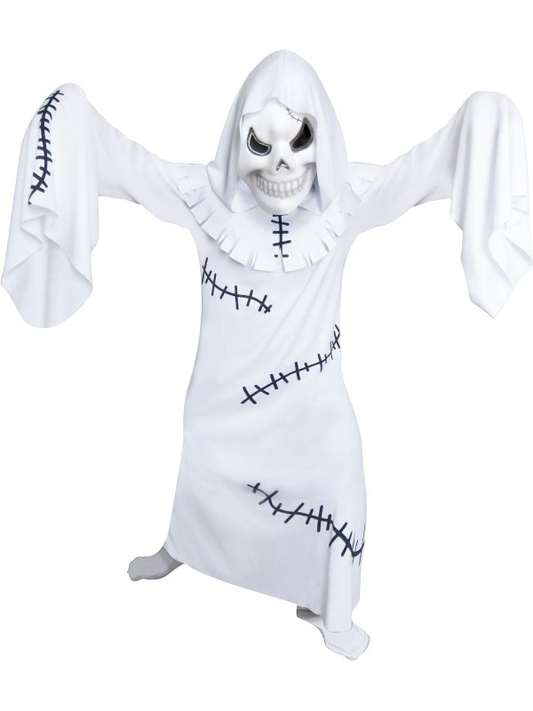 sentinel boys ghastly ghoul stitched ghost halloween fancy dress costume outfit and mask