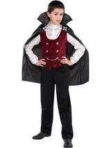 Child Boys Dark Vampire Costume