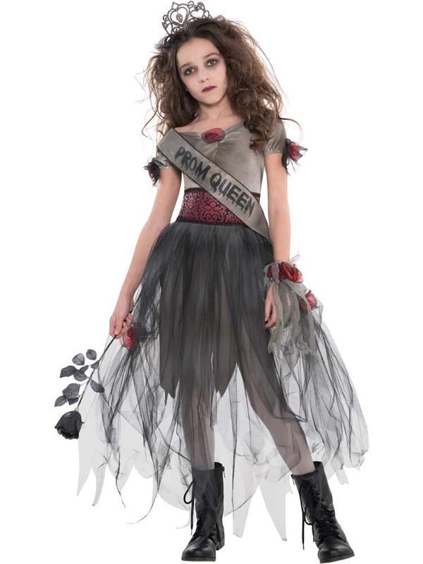 Child Girls Prombie Queen Costume
