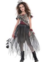 Child Girls Prombie Queen Costume