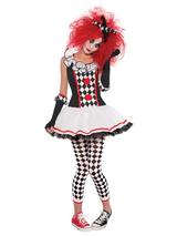 Child Girls Harlequin Honey Teen Costume