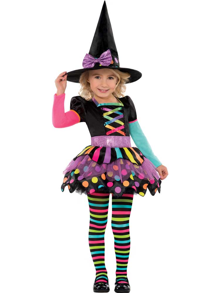 28c616d1701c Sentinel Deluxe Girls Toddler Miss Matched Witch Halloween Fancy Dress  Costume Outfit 3-8
