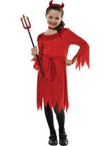 Child Girls Lil Devil Costume