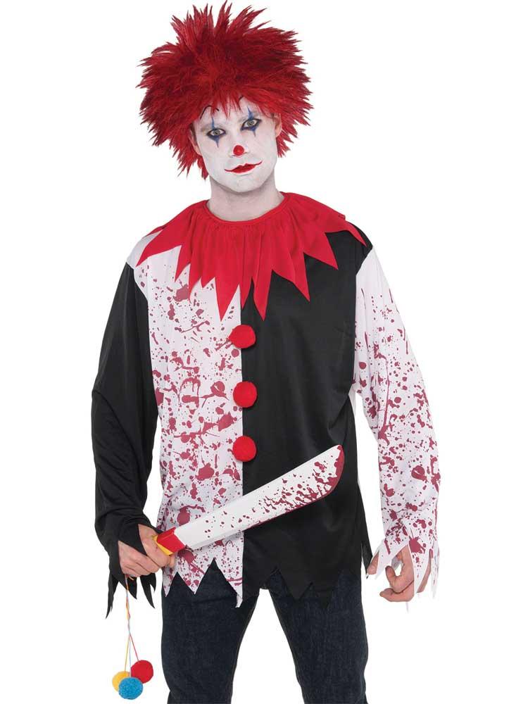 Adult Mens Evil Clown Shirt
