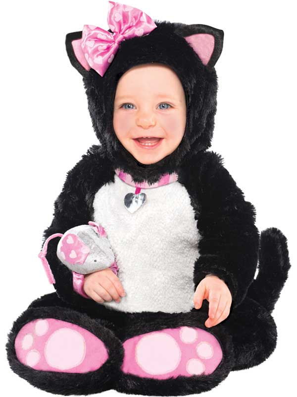 ... Picture 2 of 2  sc 1 st  eBay & Baby Black Cat Fancy Dress Costume Cute Halloween Outfit Boys Girls ...