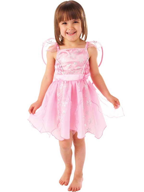 Rose-fee-robe-fantaisie-fille-fees-childs-kids-costume-ailes-neuf-1-6-ans