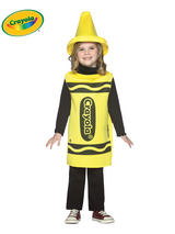 Child's 3-4 Years Old Yellow Crayola Costume