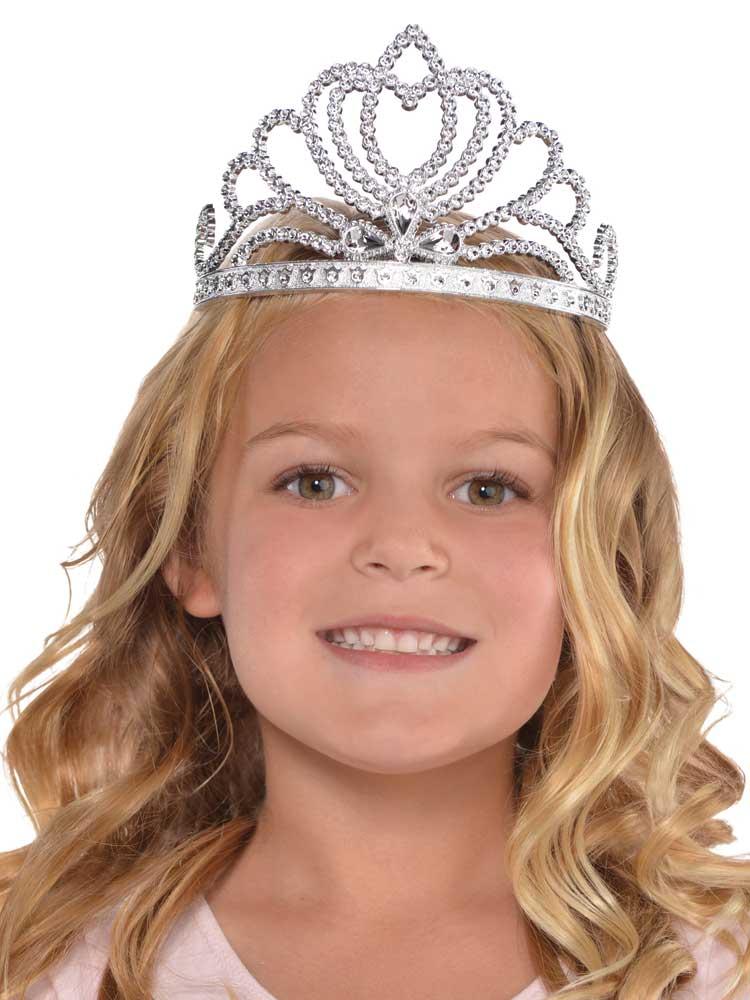 Girls Silver Princess Tiara