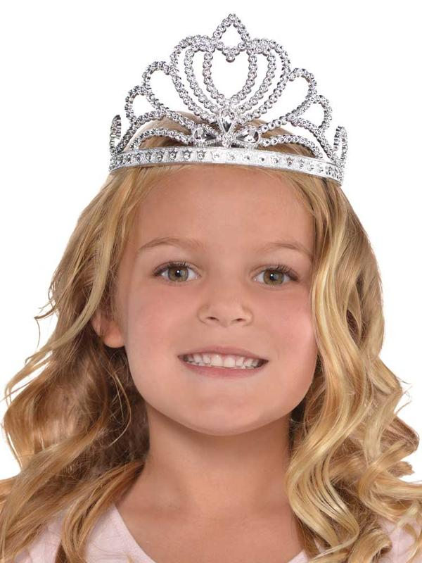Girls Silver Princess Tiara