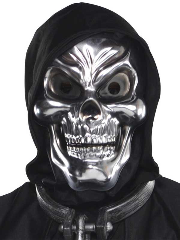 Adult Silver Skull Mask