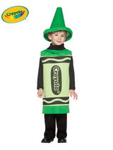 Child's 3-4 Years Old Green Crayola Costume