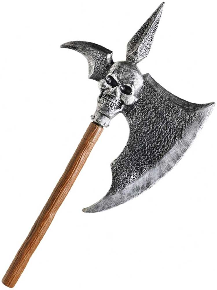 Adult Spiked Skull Axe (3 Piece)