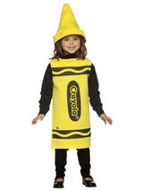 Child's 4-6 Years Old Yellow Crayola Costume