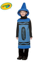 Child's 4-6 Years Old Blue Crayola Costume
