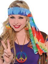 Adult 60's Hippie Headscarf