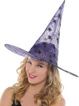 Ladies Purple Witch Hat